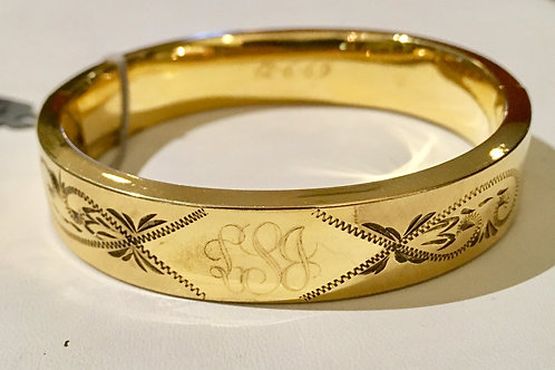 estate, bangle, gold filled