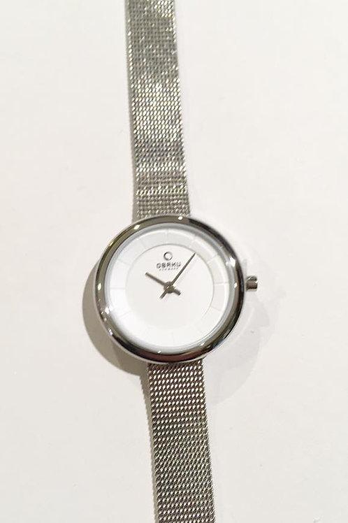 Obaku Watch - Round Silvertone with White Dial