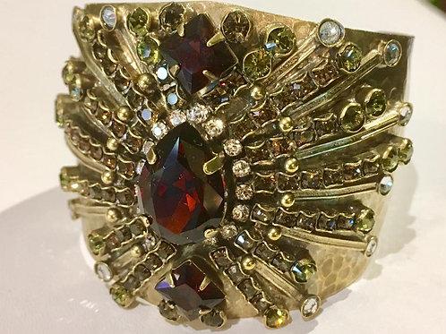 sorrelli, cuff, antique gold, amber