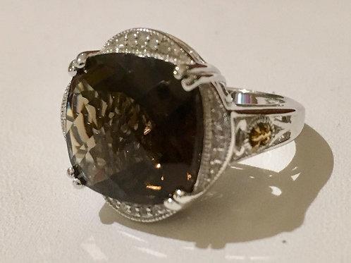 Phillip Gavriel, smoky quartz, diamond, gold