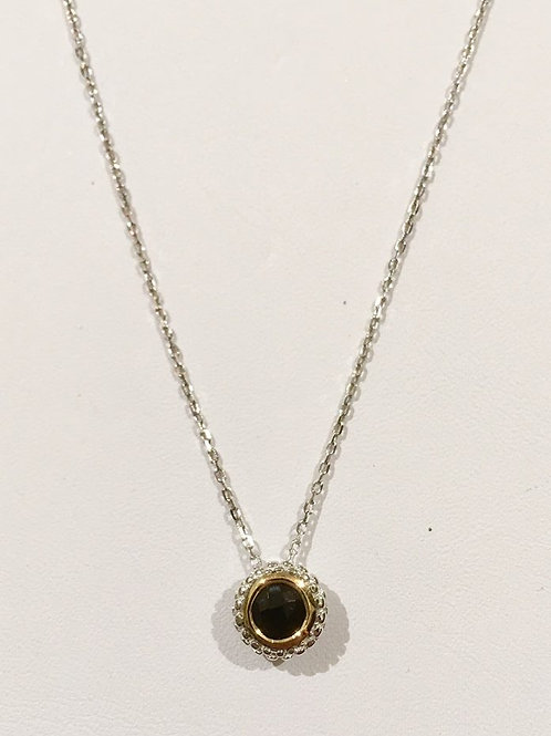 Phillip Gavriel, black onyx, gold, sterling silver, necklace