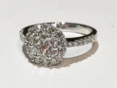 ring, diamond, 14K, white gold,