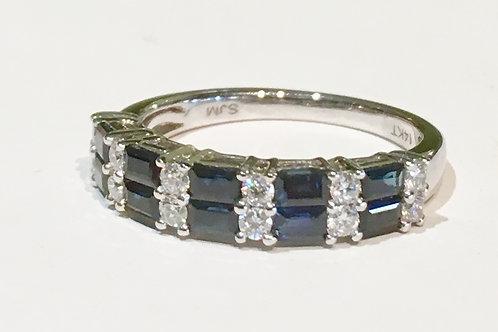 ring, sapphire, diamond, 14k