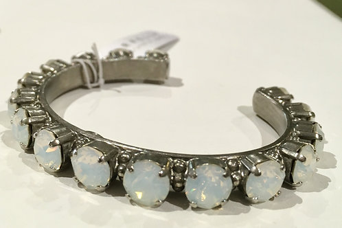 Sorrelli, Essentials, Cuff Bracelet, Pearl Lustre, Opal, Sale, Lowest Price, Antique Silver