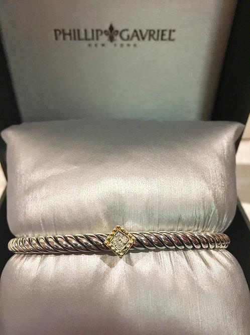 Phillip Gavriel, 18K, Gold, Sterling Silver, Bracelet