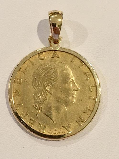 estate, coin, pendant, yellow gold