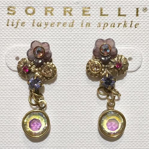 Sorrelli, earrings, fuchsia, tanzanite, retired,citrine, deep aurora borealis crystals,