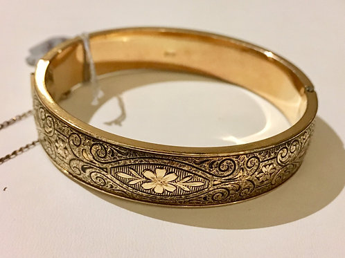 estate, bangle, gold filled