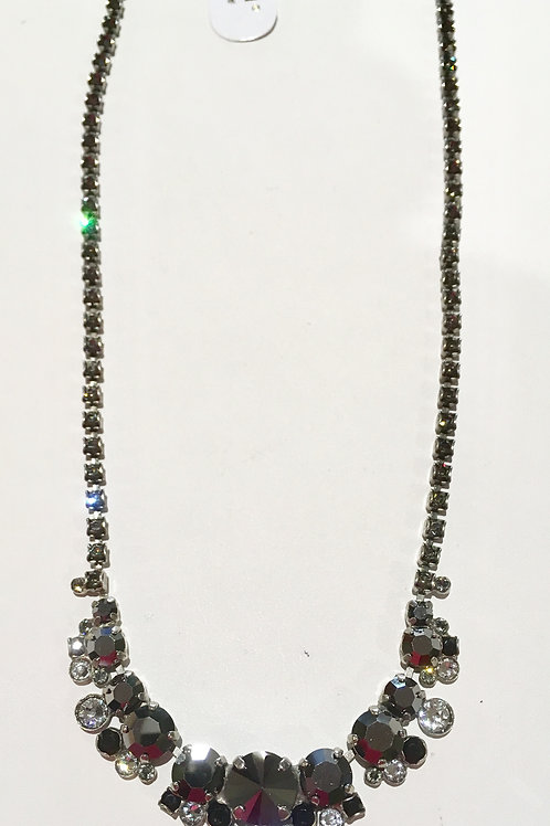 Sorrelli, Necklace, Midnight Moon, black, white, clear, smoky, crystals, lowest price