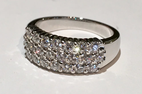 14K, white gold, diamond, band,