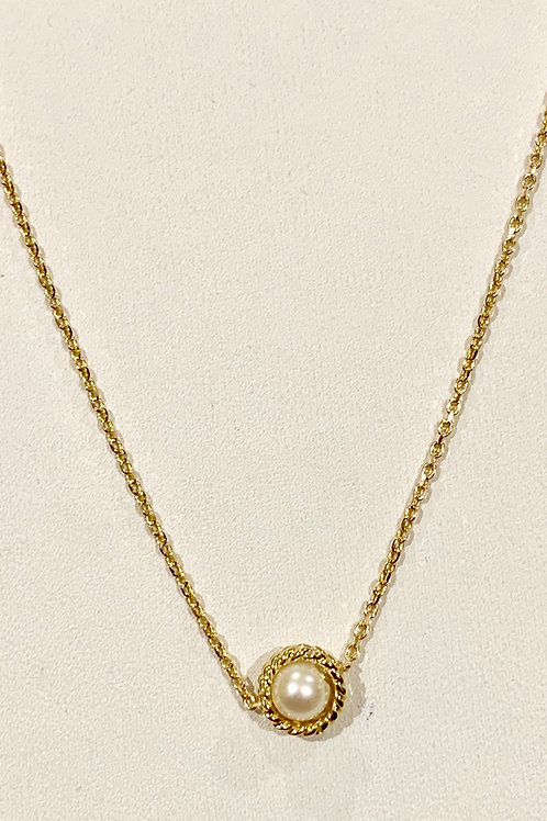 """18"""" 14K Yellow Gold Pearl Necklace"""