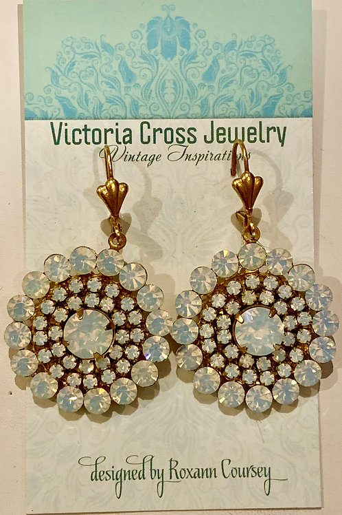 Victoria Cross Moonstone Crystal Earring
