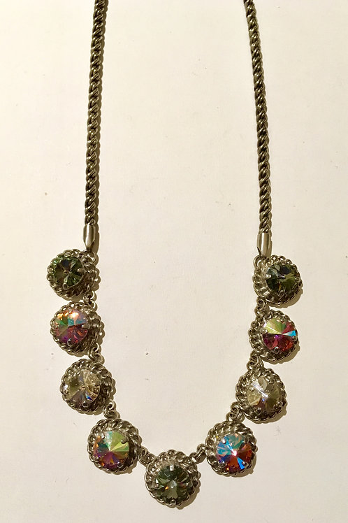 sorrelli, necklace, crystal moss