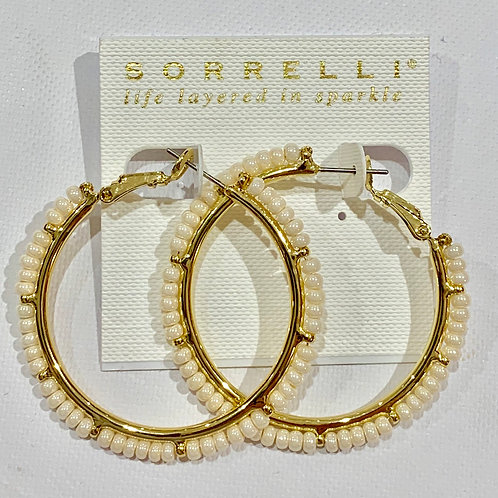 Sorrelli Polish Pearl Hoop Earrings