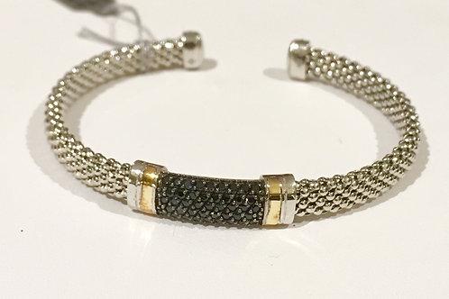 Black sapphire, phillip gavriel, 18K, gold, cuff, bracelet