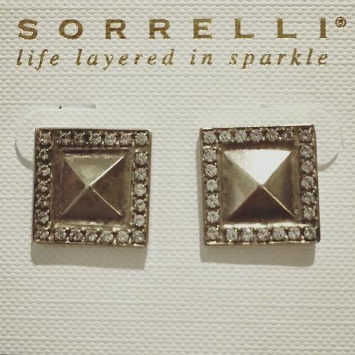 sorrelli, retired, antique silver, swarovski crystals, earrings