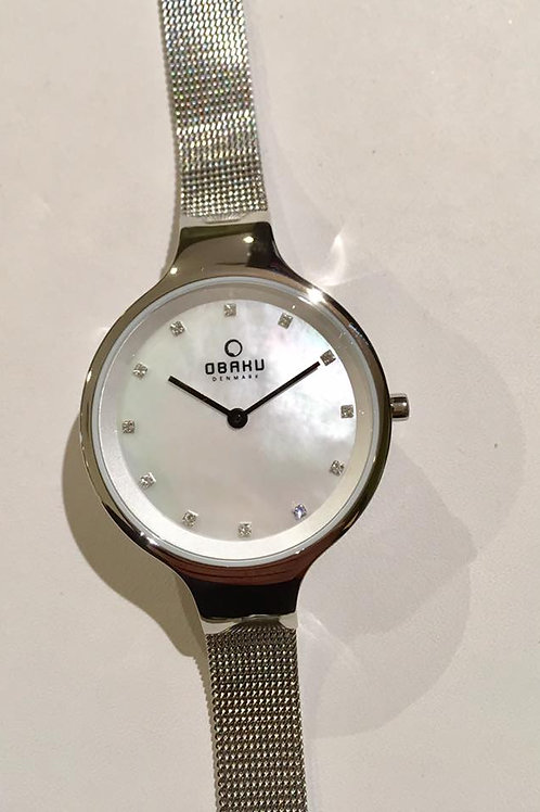 Obaku Watch - Mother of Pearl Round