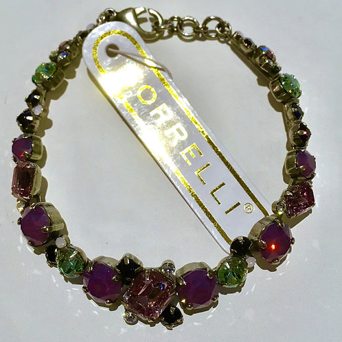 Sorrelli, Bracelet, African Violet, Green, Purple, Sale, Lowest Price, Antique Silver