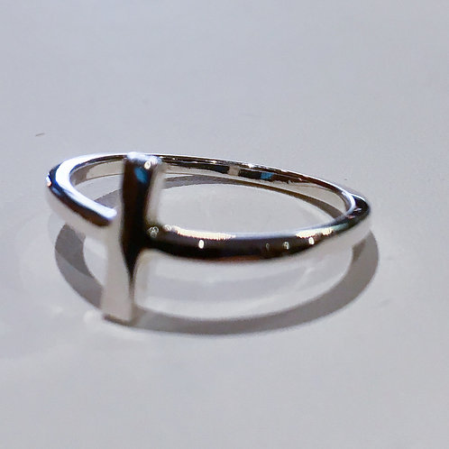 Sterling Silver, Bar, Ring, Horizontal Cross, Lowest Price