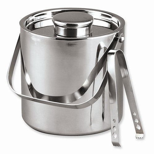 3-Qt Stainless Steel Ice Bucket with Tongs