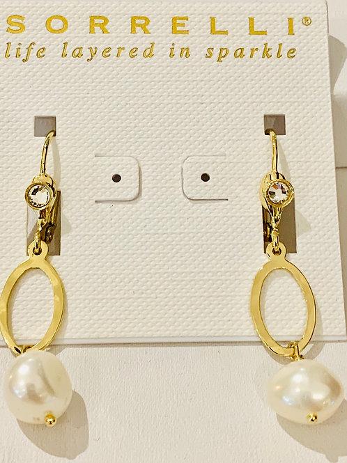 """Sorrelli Polished 1 1/2"""" Pearl Earrings"""