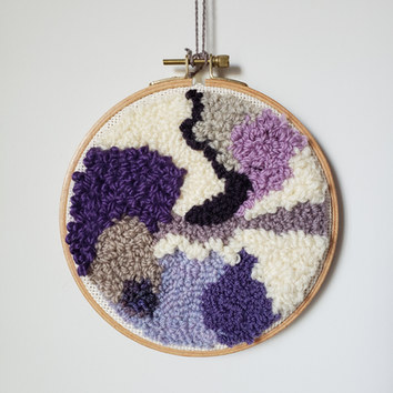 Rug punched wall decoration