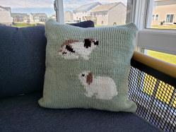 Bunny cushion cover