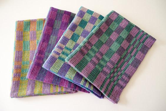 Multi-coloured tea towels