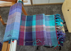 Double width blanket coming off the loom