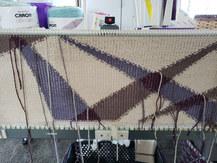 Knitting the intarsia cowl