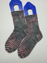 Machine knit socks