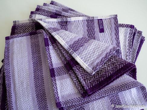 Purple twill tea towels
