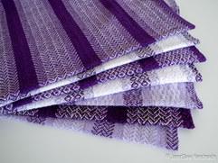 Seven purple towels