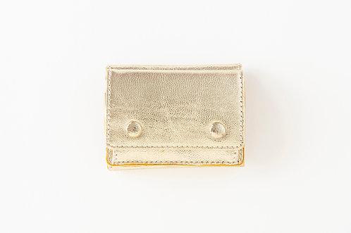 ミニ財布 ゴールド