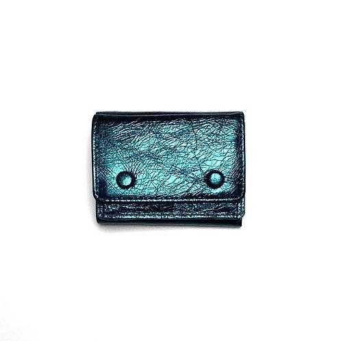 ミニ財布 メタリックグリーン