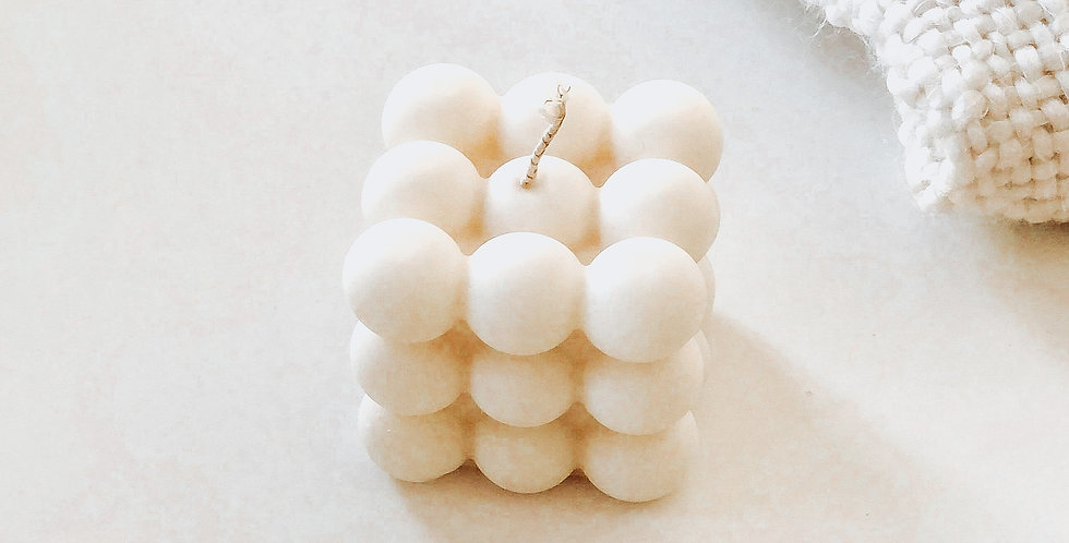 Bougie BUBBLE - Blanc