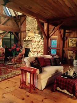 Advent Retreat_christmas fireplace tree