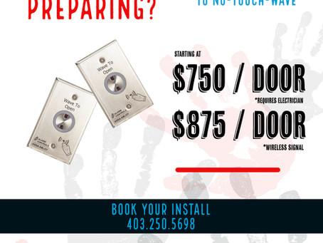 No-Touch Door Opening Calgary Costs