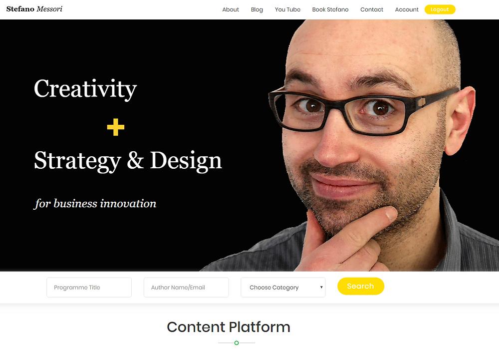 Content Platform on Creativity & Strategic Design