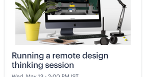 Running a remote design thinking session
