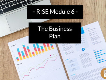 Register for RISE module 6 - The business plan. Access recording of today's catch up session.