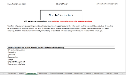 Example: Firm Infrastructure