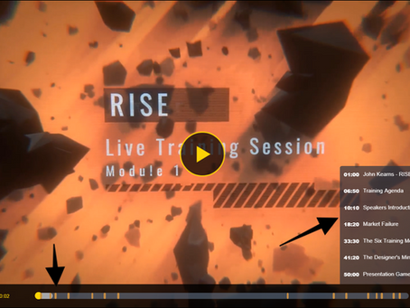 RISE live session tomorrow at 9am & recordingof our Tuesdays' session.