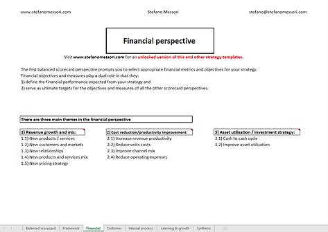 Balanced Scorecard - Finacial Perspective
