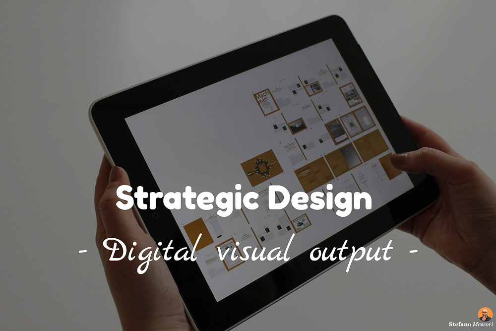The visual output of a creative design online session