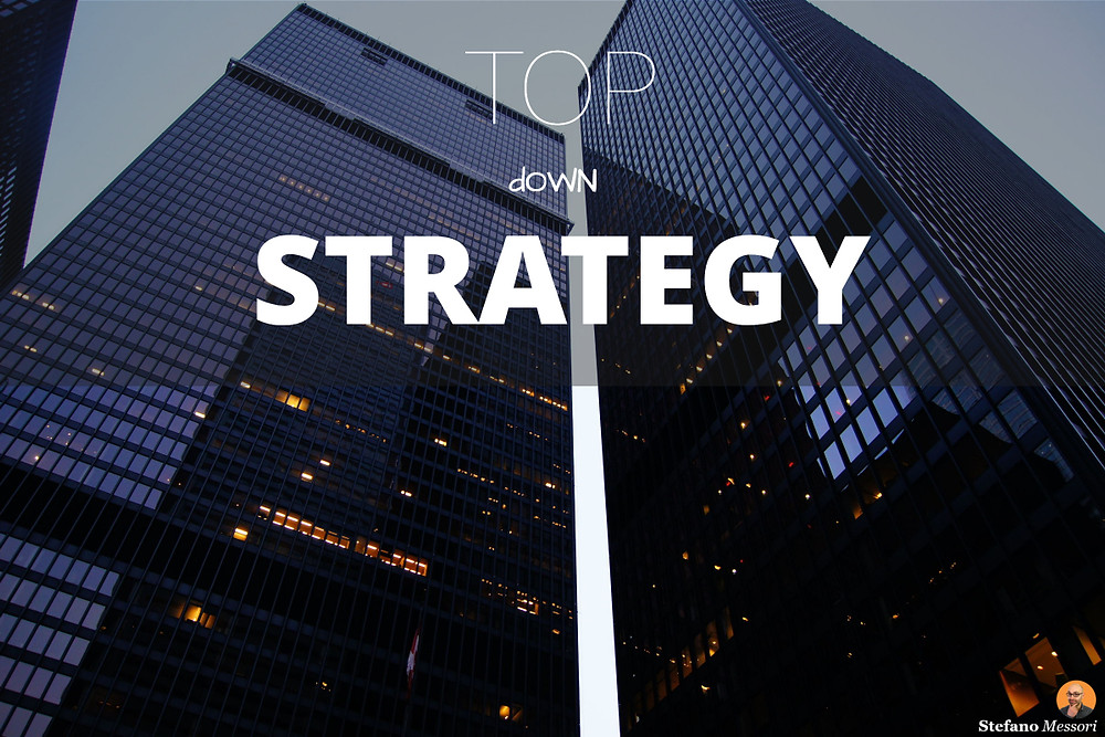 Top-down business strategy process
