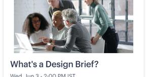 What's a Design Brief?