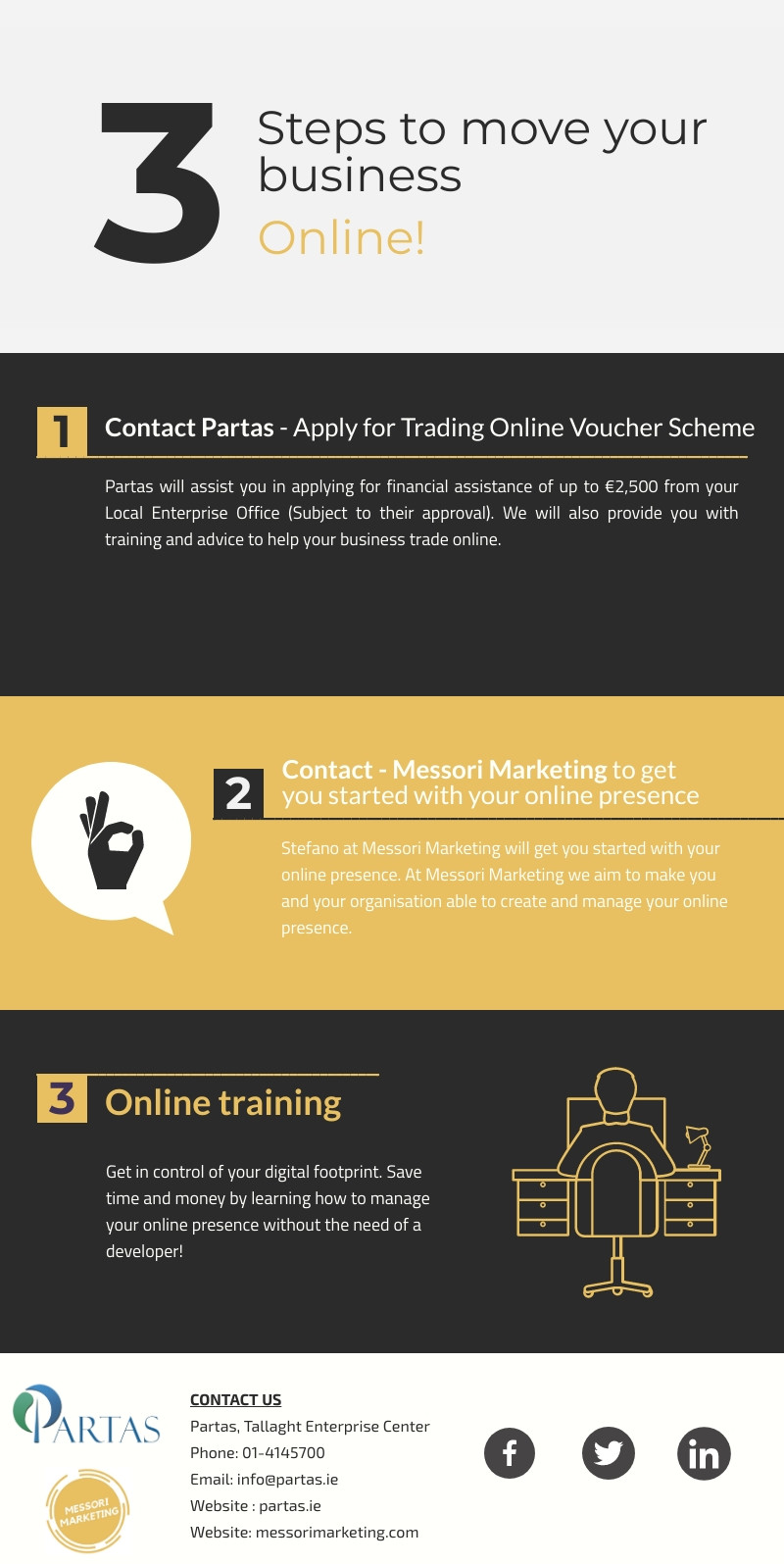Messori Marketing and Partas, Move your business online