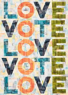 LOVE-VOTE-LOVE (Simpson, Tracy Acrylic;