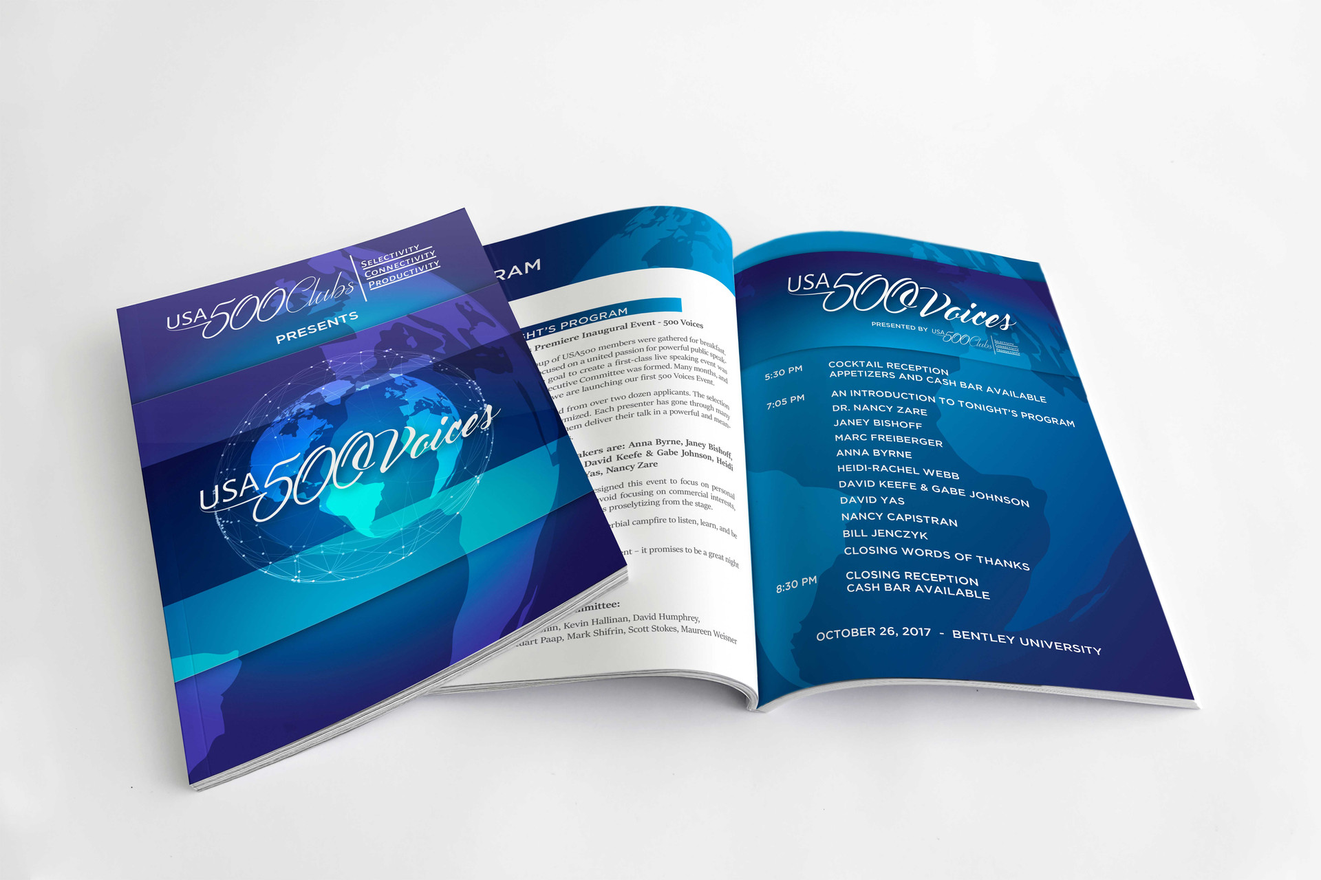 EVENT BRANDING, PROGRAM DESIGN, PRINT DESIGN